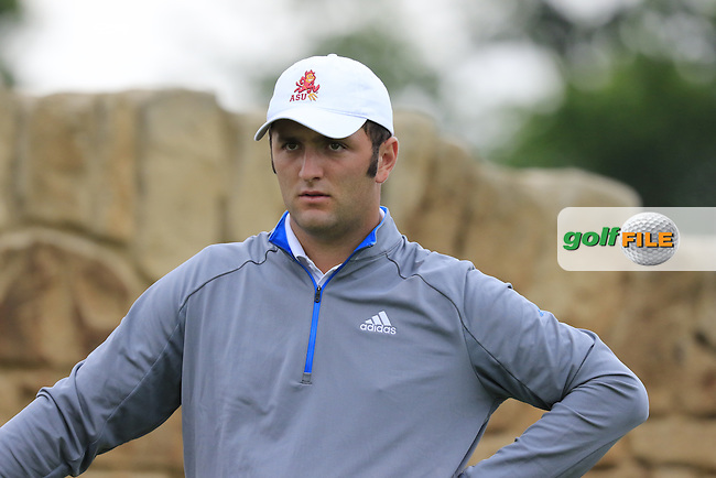 Jon Rahm (AM)(ESP) waits on the 9th tee during Friday's Round 1 of the 2016 U.S. Open Championship held at Oakmont Country Club, Oakmont, Pittsburgh, Pennsylvania, United States of America. 17th June 2016.<br /> Picture: Eoin Clarke   Golffile<br /> <br /> <br /> All photos usage must carry mandatory copyright credit (&copy; Golffile   Eoin Clarke)
