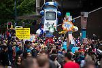 © Joel Goodman - 07973 332324 . 14/06/2015 . Manchester , UK . Manchester Day parade and festival through Manchester City Centre . Photo credit : Joel Goodman