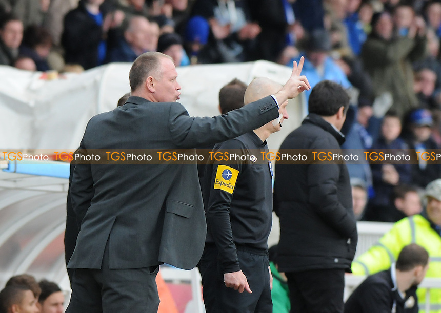 Hartlepool United Manager John Hughes  - Hartlepool United vs MK Dons - NPower League One Football at Victoria Park, Hartlepool - 29/03/13 - MANDATORY CREDIT: Steven White/TGSPHOTO - Self billing applies where appropriate - 0845 094 6026 - contact@tgsphoto.co.uk - NO UNPAID USE