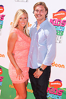 WESTWOOD, LOS ANGELES, CA, USA - JULY 17: Bethany Hamilton, Adam Dirks at the Nickelodeon Kids' Choice Sports Awards 2014 held at UCLA's Pauley Pavilion on July 17, 2014 in Westwood, Los Angeles, California, United States. (Photo by Xavier Collin/Celebrity Monitor)