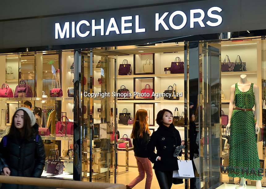 A newly opened Michael Kors store in Sanlitun, Beijing, China. 11-Jan-2014
