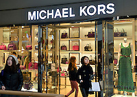 A newly opened Michael Kors store in Sanlitun, Beijing, China. 11-Jan-2014