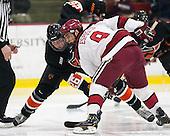 Ryan Siiro (Princeton - 26), Luke Esposito (Harvard - 9) - The Harvard University Crimson defeated the Princeton University Tigers 3-2 on Friday, January 31, 2014, at the Bright-Landry Hockey Center in Cambridge, Massachusetts.