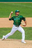 Beloit Snappers pitcher Jesus Zambrano (21) during a Midwest League game against the Quad Cities River Bandits on June 18, 2017 at Pohlman Field in Beloit, Wisconsin.  Quad Cities defeated Beloit 5-3. (Brad Krause/Krause Sports Photography)