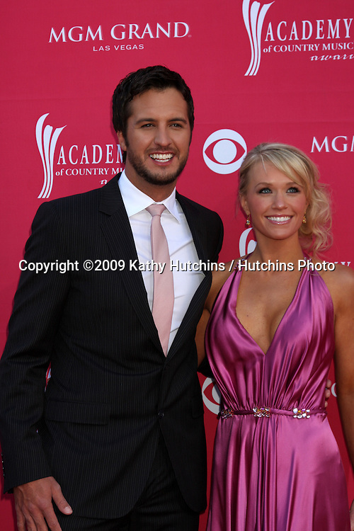 Luke Bryan arriving at the 44th Academy of Country Music Awards at the MGM Grand Arena in  Las Vegas, NV on April 5, 2009.©2009 Kathy Hutchins / Hutchins Photo....                .