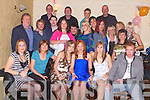 CELEBRATING: Elaine Mooney, Haigs Terrace, Manor, Tralee (seated 4th from left), celebrated her 21st birthday at The.Greyhound Bar on Saturday night last with family and friends.