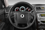 Car pictures of steering wheel view of a 2015 Ssangyong Rexton W Sapphire 5 Door Suv Steering Wheel