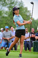 Danielle Kang (USA) watches her tee shot on 18 during Friday's round 2 of the 2017 KPMG Women's PGA Championship, at Olympia Fields Country Club, Olympia Fields, Illinois. 6/30/2017.<br /> Picture: Golffile | Ken Murray<br /> <br /> <br /> All photo usage must carry mandatory copyright credit (&copy; Golffile | Ken Murray)