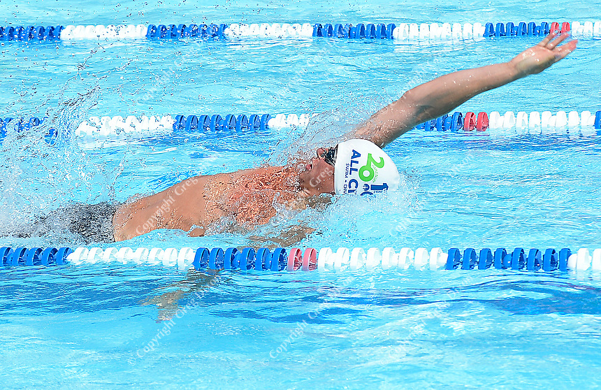 Seminole's Wesley Jekel wins the 15-19 year-old 100-meter backstroke with a time of 56.75 seconds during 2019 All-City Swim and Dive on Sunday, 8/4/19 at West Side Swim Club in Madison, Wisconsin
