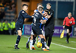 Dundee v St Johnstone&hellip;29.12.18&hellip;   Dens Park    SPFL<br />Martin Woods grapples with Matty Kennedy<br />Picture by Graeme Hart. <br />Copyright Perthshire Picture Agency<br />Tel: 01738 623350  Mobile: 07990 594431