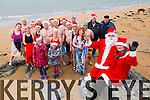 Getting ready for the annual Christmas Day swim, Santa,  Mrs Clause  and members of  Tralee Bay Swimming club Launch the  Swim in aid of Fenit RNLI  on Sunday