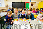 Fionn O'Brien, Ms Roisin Doyle (teacher and Fionn's mom) Conor Daly (teacher) Ms Louise Brassil (teacher) pictured at the last day of school at Blennerville National School before their new school opens in January 2016.