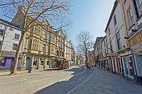 Pictured: The deserted Wind Street in Swansea, Wales, UK. Thursday 26 March 2020<br /> Re: Covid-19 Coronavirus pandemic, UK.