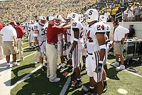 2 September 2006: Nick Frank (39), Jeff Hammerschmidt, Erik Lorig, Landon Johnson (53), Peter Griffin (28), Trevor Hooper (24) during Stanford's 48-10 loss to the Oregon Ducks at Autzen Stadium in Eugene, OR.