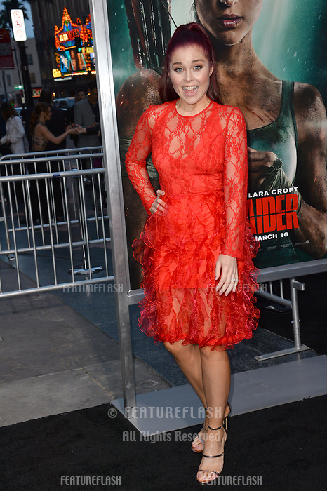 Erin Robinson at the US premiere for &quot;Tomb Raider&quot; at the TCL Chinese Theatre, Los Angeles, USA 12 March 2018<br /> Picture: Paul Smith/Featureflash/SilverHub 0208 004 5359 sales@silverhubmedia.com