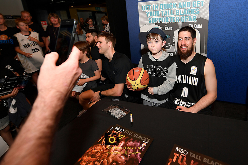New Zealand Tall Blacks' Jordan Ngatai, FIBA World Cup Basketball Qualifier - NZ Tall Blacks v Syria at TSB Bank Arena, Wellington, New Zealand on Sunday 2 2018. <br /> Photo by Masanori Udagawa. <br /> www.photowellington.photoshelter.com