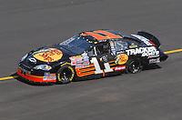 Apr 28, 2007; Talladega, AL, USA; Nascar Busch Series driver Martin Truex Jr (11) after crashing during the Aarons 312 at Talladega Superspeedway. Mandatory Credit: Mark J. Rebilas