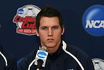 10 December 2009: Senior midfielder/defender Zach Loyd. The University of North Carolina Tar Heels held a press conference at WakeMed Soccer Stadium in Cary, North Carolina on the day before playing Akron in an NCAA Division I Men's College Cup semifinal game.