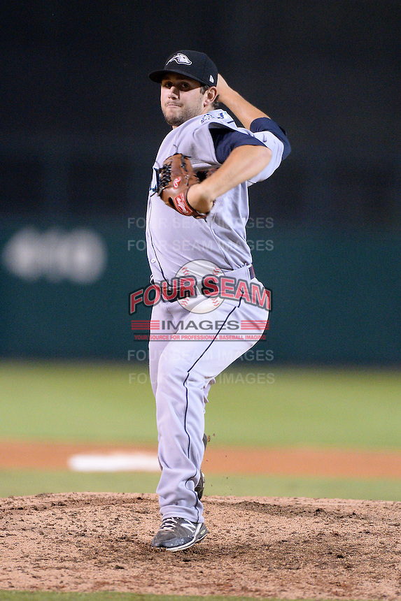 Peoria Javelinas pitcher Dominic Leone (6), of the Seattle Mariners organization, during an Arizona Fall League game against the Glendale Desert Dogs on October 15, 2013 at Camelback Ranch Stadium in Glendale, Arizona.  Glendale defeated Peoria 5-1.  (Mike Janes/Four Seam Images)