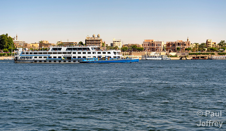 The Nile River at Luxor, Egypt.