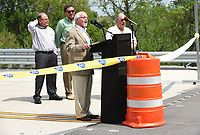 NWA Democrat-Gazette/FLIP PUTTHOFF <br />Dick Trammel of Rogers, chairman of the Arkansas Highway Commission, speaks Wednesday May 10 2017 during dedication of a section of the Bella Vista bypass. The route is planned to eventually be part of Interstate 49.