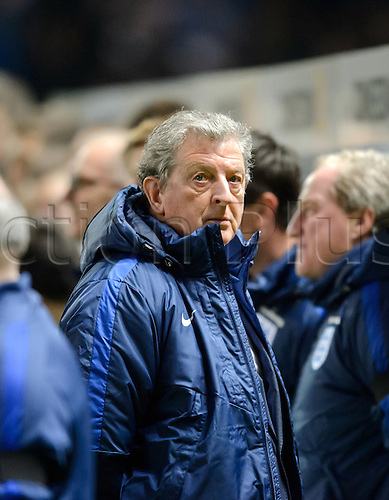 26.03.2016. Olympiastadion Berlin, Berlin, Germany.  England's head coach Roy Hodgson at the international friendly soccer match between Germany and England at the Olympiastadion
