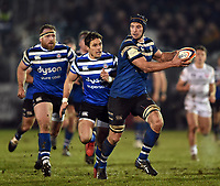 Paul Grant of Bath Rugby in possession. Premiership Rugby Cup match, between Bath Rugby and Gloucester Rugby on February 3, 2019 at the Recreation Ground in Bath, England. Photo by: Patrick Khachfe / Onside Images