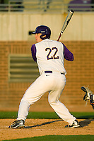 Jared Avchen #22 of the East Carolina Pirates at bat versus the Virginia Cavaliers at Clark-LeClair Stadium on February 19, 2010 in Greenville, North Carolina.   Photo by Brian Westerholt / Four Seam Images
