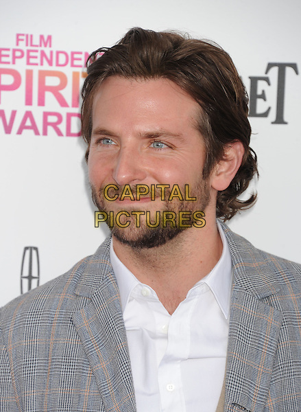 Bradley Cooper.2013 Film Independent Spirit Awards - Arrivals Held At Santa Monica Beach, Santa Monica, California, USA,.23rd February 2013..indy indie indies indys portrait headshot beard facial hair grey gray suit white shirt beard facial hair checked plaid .CAP/ROT/TM.©Tony Michaels/Roth Stock/Capital Pictures