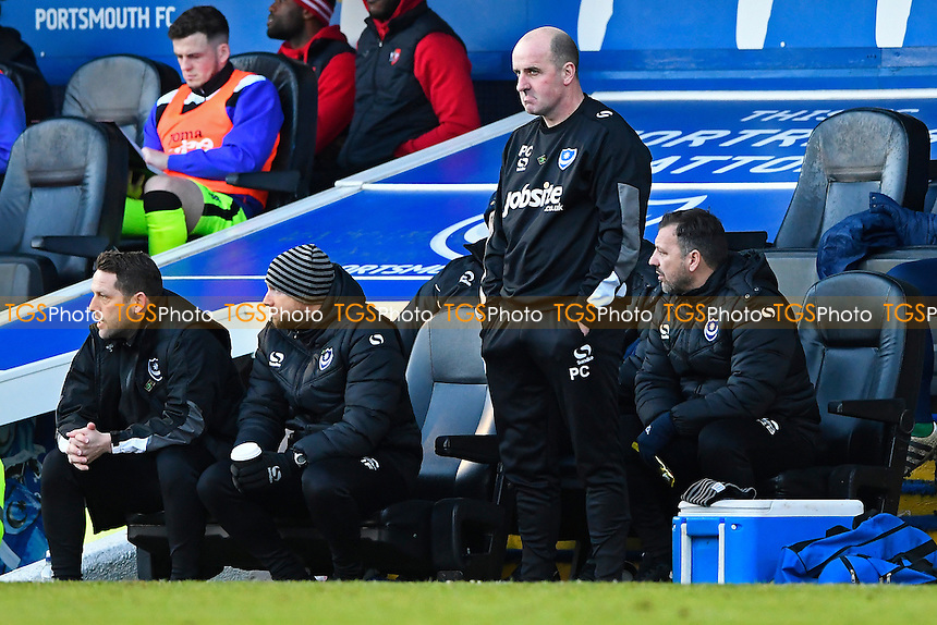 A glum looking Portsmouth Manager Paul Cook during Portsmouth vs Exeter City, Sky Bet EFL League 2 Football at Fratton Park on 28th January 2017
