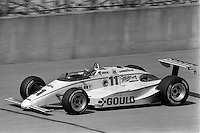 BROOKLYN, MI - SEPTEMBER 22: Al Unser drives a Roger Penske March 85C/Cosworth during the Detroit News 200 CART Indy Car race at the Michigan International Speedway near Brooklyn, Michigan, on September 22, 1985.