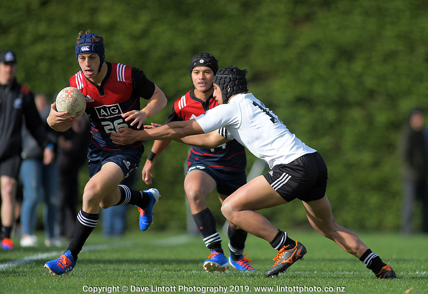 NZ Schools v NZ Maori Under-18. Game Of Three Halves NZ Schools pre-season rugby match at the Sport & Rugby Institute in Palmerston North, New Zealand on Thursday, 26 September 2019. Photo: Dave Lintott / lintottphoto.co.nz