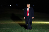 November 2, 2018 - Washington, DC, United States: United States President Donald J. Trump returns to The White House after attending political events in Montana and Florida. (Chris Kleponis / Polaris)United States President Donald J. Trump returns to The White House in Washington, DC after attending political events in Montana and Florida on November 2, 2018.<br /> Credit: Chris Kleponis / Pool via CNP