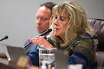 Nevada Assemblywoman Jill Dickman, R-Sparks, works in committee at the Legislative Building in Carson City, Nev., on Monday, March 23, 2015. <br /> Photo by Cathleen Allison