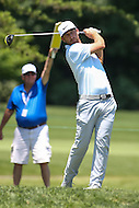 Bethesda, MD - June 25, 2016:  Kevin Chappell (USA) looks at his tee shot during Round 3 of professional play at the Quicken Loans National Tournament at the Congressional Country Club in Bethesda, MD, June 25, 2016.  (Photo by Elliott Brown/Media Images International)