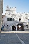 Slovenia, Koper, Praetorian Palace, old town, Venetian architecture, Istrian coast, Adriatic Sea, Europe,
