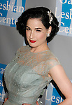 BEVERLY HILLS, CA. - April 24: Dita Von Teese arrives at An Evening With Women: Celebrating Art, Music, & Equality at The Beverly Hilton Hotel on April 24, 2009 in Beverly Hills, California.