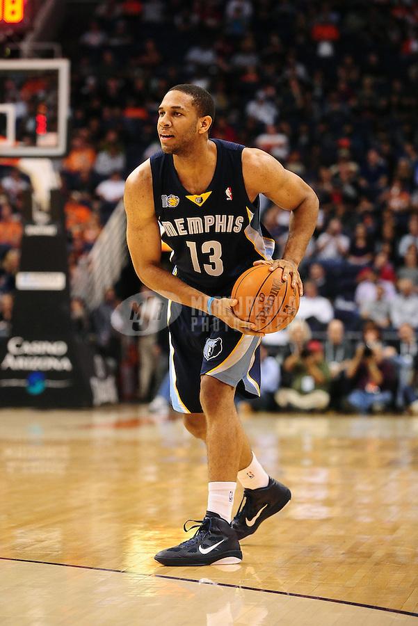 Dec. 8, 2010; Phoenix, AZ, USA; Memphis Grizzlies guard (13) Xavier Henry against the Phoenix Suns at the US Airways Center. Memphis defeated Phoenix 104-98 in overtime. Mandatory Credit: Mark J. Rebilas-