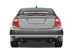 Straight rear view of a 2010 Ford Fusion SE
