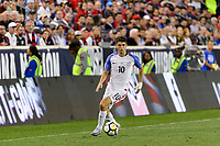 Harrison, NJ - Friday Sept. 01, 2017: Christian Pulisic during a 2017 FIFA World Cup Qualifier between the United States (USA) and Costa Rica (CRC) at Red Bull Arena.