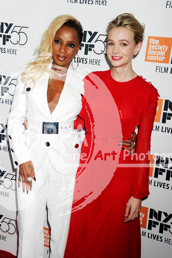 Mary J. Blige und Carey Mulligan bei der Premiere von 'Mudbound' auf dem 55. New York Film Festival in der Alice Tully Hall. New York, 12.10.2017