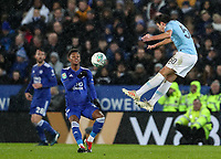 Manchester City's Eric Garcia competing with Leicester City's Demarai Gray<br /> <br /> Photographer Andrew Kearns/CameraSport<br /> <br /> English League Cup - Carabao Cup Quarter Final - Leicester City v Manchester City - Tuesday 18th December 2018 - King Power Stadium - Leicester<br />  <br /> World Copyright &copy; 2018 CameraSport. All rights reserved. 43 Linden Ave. Countesthorpe. Leicester. England. LE8 5PG - Tel: +44 (0) 116 277 4147 - admin@camerasport.com - www.camerasport.com