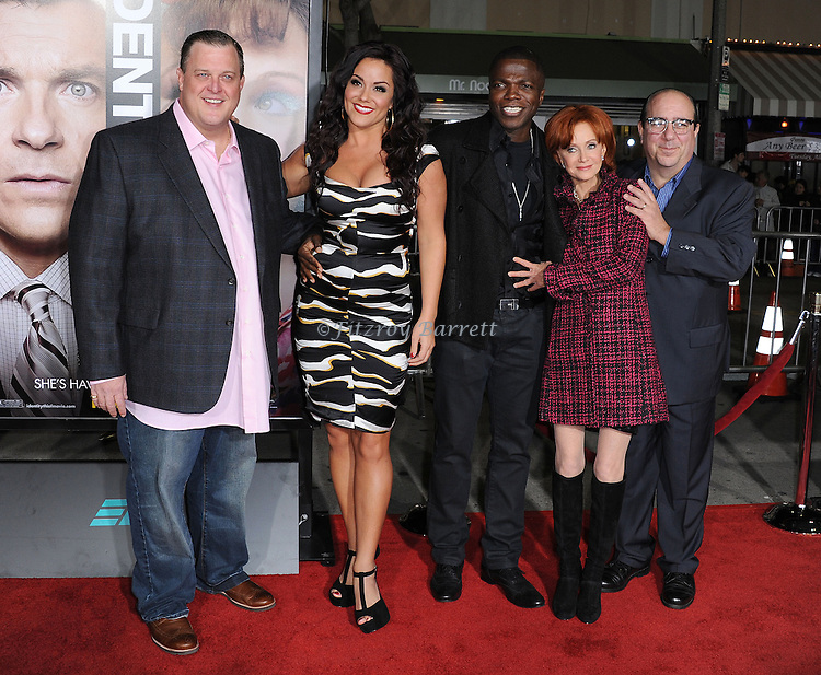 Billy Gardell, Katy Mixon, Reno Wilson, Swoosie Kurtz and Louis Mustillo at the World Premiere of Identity Thief, held at the Mann Village Theater in Westwood CA. February 4, 2013.