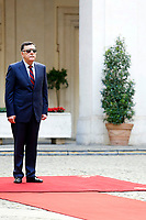 Fayez al-Sarraj<br /> Rome May 7th 2019. The Italian Prime Minister meets the Premier of the Government of National Accord of Libya.<br /> Photo di Samantha Zucchi/Insidefoto