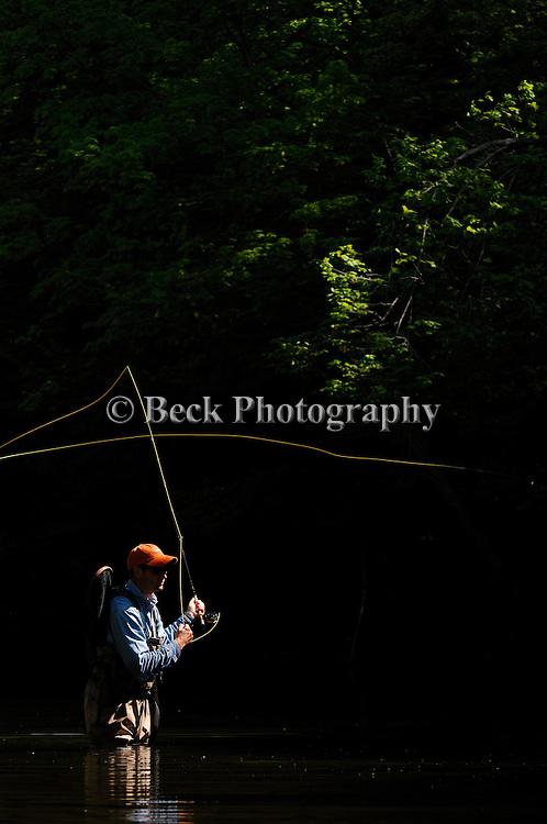 Spring fly fishing in northeast PA.