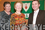 Kirby's Social:    At the pioneers Social in Kirby's Lanterns Tarbert on Friday night were Mary Holland, Tarbert, Marie McEnery, Ballybunion and Seamus Murphy, Tralee.