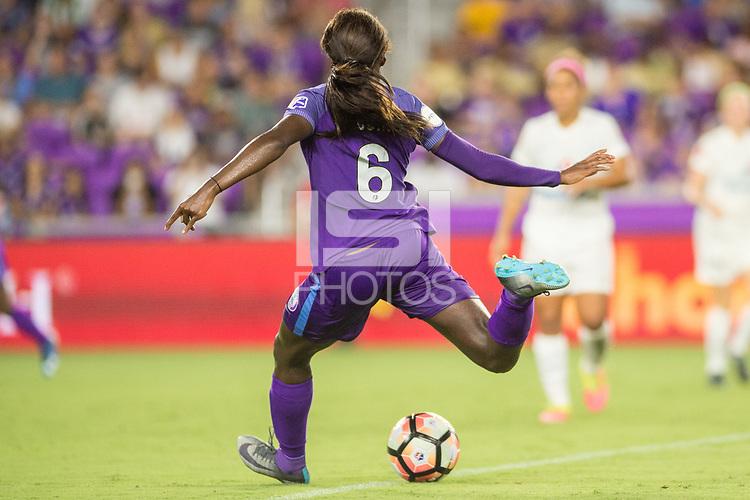 Orlando, FL - Saturday July 15, 2017: Chioma Ubogagu during a regular season National Women's Soccer League (NWSL) match between the Orlando Pride and FC Kansas City at Orlando City Stadium.