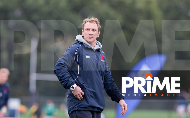 London Scottish Head Coach Peter Richards during the Greene King IPA Championship match between London Scottish Football Club and Jersey at Richmond Athletic Ground, Richmond, United Kingdom on 7 November 2015. Photo by Andy Rowland.