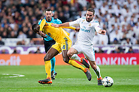Real Madrid Daniel Carvajal and Juventus Blaise Matuidi during Champion League match between Real Madrid and Juventus at Santiago Bernabeu Stadium in Madrid, Spain. April 11, 2018. (ALTERPHOTOS/Borja B.Hojas) /NortePhoto.com