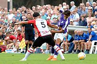 ROLDE - Voetbal, FC Groningen - FC Emmen, voorbereiding seizoen 2018-2019,  21-07-2018,     FC Groningen speler Ludevit Reis in duel met FC Emmen speler Gersom Klok